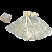 """Vintage 1957 Nancy Ann ~ 8"""" Muffie Bridesmaid Gown, Slip and Panties"""