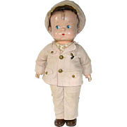 Effanbee Composition SKIPPY Doll Wearing Army Outfit - Red Tag Sale Item