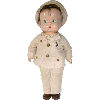Effanbee Composition SKIPPY Doll Wearing Army Outfit