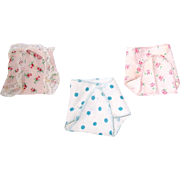 "Vintage 8"" Vogue Ginnette or Little Genius Lot of 3 Diapers"