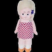 """Vintage 8"""" Papier Mache German Kewpie Type Doll ~ All Original"""