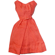 Vintage Barbie Fashion ~ 1962-63 Orange BELLE DRESS