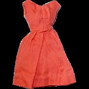 Vintage Barbie Fashion ~ 1962-63 Orange BELLE DRESS