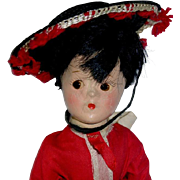 "1930s Vintage Madame Alexander 9.5"" Composition Little Betty ~ SPANISH Boy Doll"