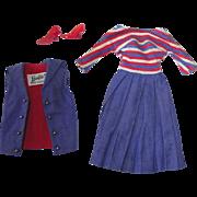 Vintage Barbie Fashion ~ #1631 Aboard Ship ~ Dress, Vest, Heels