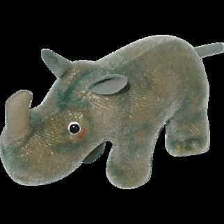 "Vintage Nosy Steiff 7"" Rhino Mohair W/Tag"