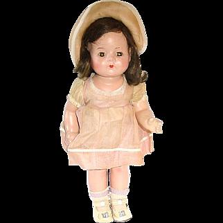"13"" Madame Alexander Compo & Cloth Doll Dionne Quintuplet 1935 Emilie"