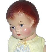 "Composition 1931 Horsman 12""  BABS Doll ~ Adorable and All Original"