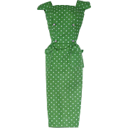 Vintage Barbie Fashion ~ Pak 1962-63 GREEN Polka Dot Sheath
