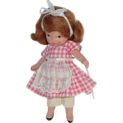 Nancy Ann Storybook Doll ~ Molded Sock ~ Pudgy Tummy #117 School Girl