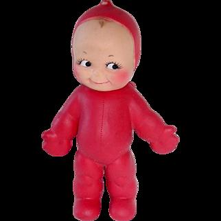 """Vintage Red 8"""" Ragsy KEWPIE Squeak Doll By Cameo"""