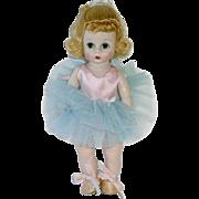 "Vintage  BKW 8"" Alexander-Kin Doll ~ Blue & Pink Ballerina"
