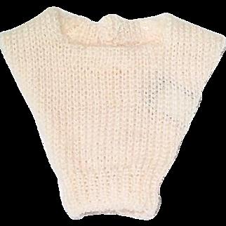 Vintage Barbie ~ 1963 Pak BEIGE Square Neck Sweater ~ Mint