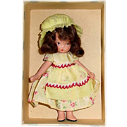 Nancy Ann Storybook ~ #118 LITTLE MISS MUFFET ~ Jointed Leg Yellow Version ~ Mint in Box