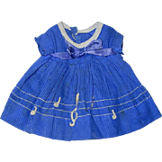"""HTF Original MUSIC NOTE Dress for 11"""" Composition Ideal Shirley Temple"""