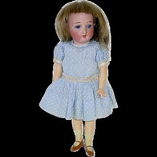 "7"" Antique German Flapper Style Bisque Head Doll #250/18"