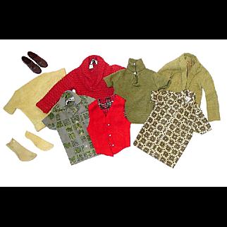 Lot of Vintage KEN Clothes ~ Shirts, Vest, Jacket, Shoes