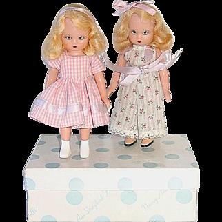 2 Nancy Ann Storybook Plastic Dolls ~ Big Sister Series W/Box