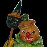 "Folk Artist Debbee Thibault ~ QUEEN OF HALLOWEEN 7"""