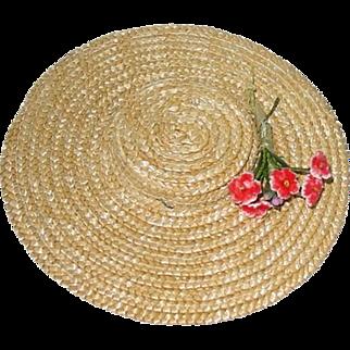 """Original Madame Alexander 9"""" Composition McGuffey Ana ~ Straw Hat"""
