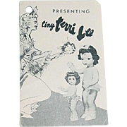 "1950s 10"" Tiny Terri Lee Booklet"