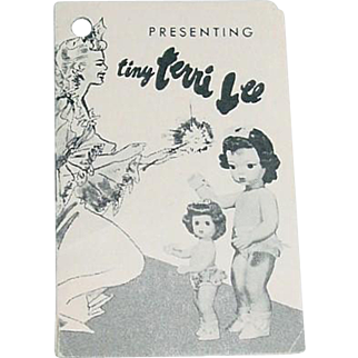 """1950s 10"""" Tiny Terri Lee Booklet"""