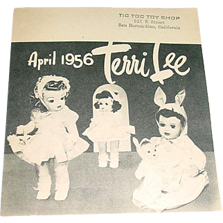 Original 1956 Terri Lee Doll Booklet