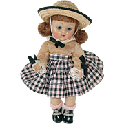 1953 Strung Vogue Ginny ~ Auburn Flip ~  Complete Beryl Outfit #43 Tiny Miss Series