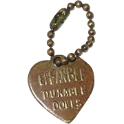 Original Vintage Effanbee F&B ~ Metal Heart Bracelet