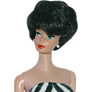1961 Jet Black Bubble Cut Barbie ~ All Original