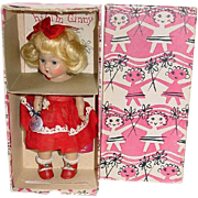 1952 Strung Vogue Ginny Doll #23 KAY ~ With Box, Booklet, Wrist Tag