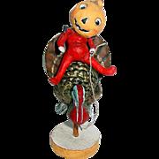 """Folk Artist DEBBEE THIBAULT ~ 6"""" What's a Turkey ~ Halloween/Thanksgiving"""