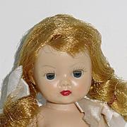 Nancy Ann Straight Leg Walker Muffie Doll ~ Blonde Braids