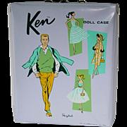 1961 Vintage KEN Lavender Single Doll Case ~ No Splits/All Drawers