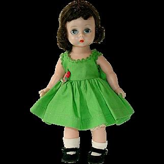 Vintage 1957 Alexander-kins BKW Doll ~ Wearing Variation After School Dress Outfit