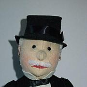 "Vintage Repro 18"" Steiff Doll ~ Man In Morning Coat ~ MIB"