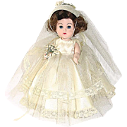 "Vintage 8"" Vogue BK Walker Ginny in 1957 Wedding Gown Outfit Complete"