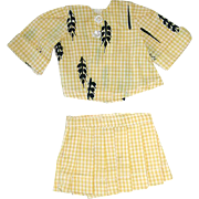 "Vintage 10"" Tiny Terri Lee Fashion ~ 2 Piece Yellow Suit"