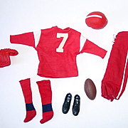 Vintage Ken Outfit ~ #799 TOUCHDOWN ~ Football Outfit ~ Complete