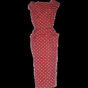 Vintage Barbie 1962 Fashion ~ Cotton Red POLKA DOT Sheath