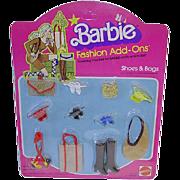 Mod Best Buy 1978 #2458 Barbie Doll Fashion Add Ons ~ Shoes & Bags NRFB