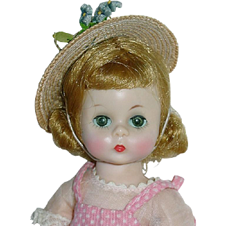 Vintage 1957 Blonde Alexander-Kin ~ Wearing School or Party Outfit