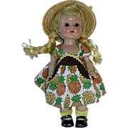 """1954 Vogue 8"""" SLW GINNY in #41 Pineapple Print ~ Tiny Miss Series"""