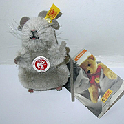 """Steiff Mimic The Mohair Mouse EAN 032141 - Made in Germany 3 1/2"""""""
