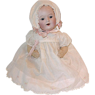 "Adorable 12"" Bald Bisque Head ~ Baby Doll ~ Nippon"