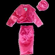 Vintage 1964 Barbie Fashion ~ Rose Satin Pak ~ Skirt, Hat, Bolero Jacket