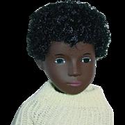 Vintage Boy Sasha Doll ~ MIB #318 Black AA Caleb Yellow Sweater HTF