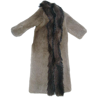 "Genuine Vintage Sheared MINK Coat by DIMITHA ~ For 16"" Fashion Dolls"
