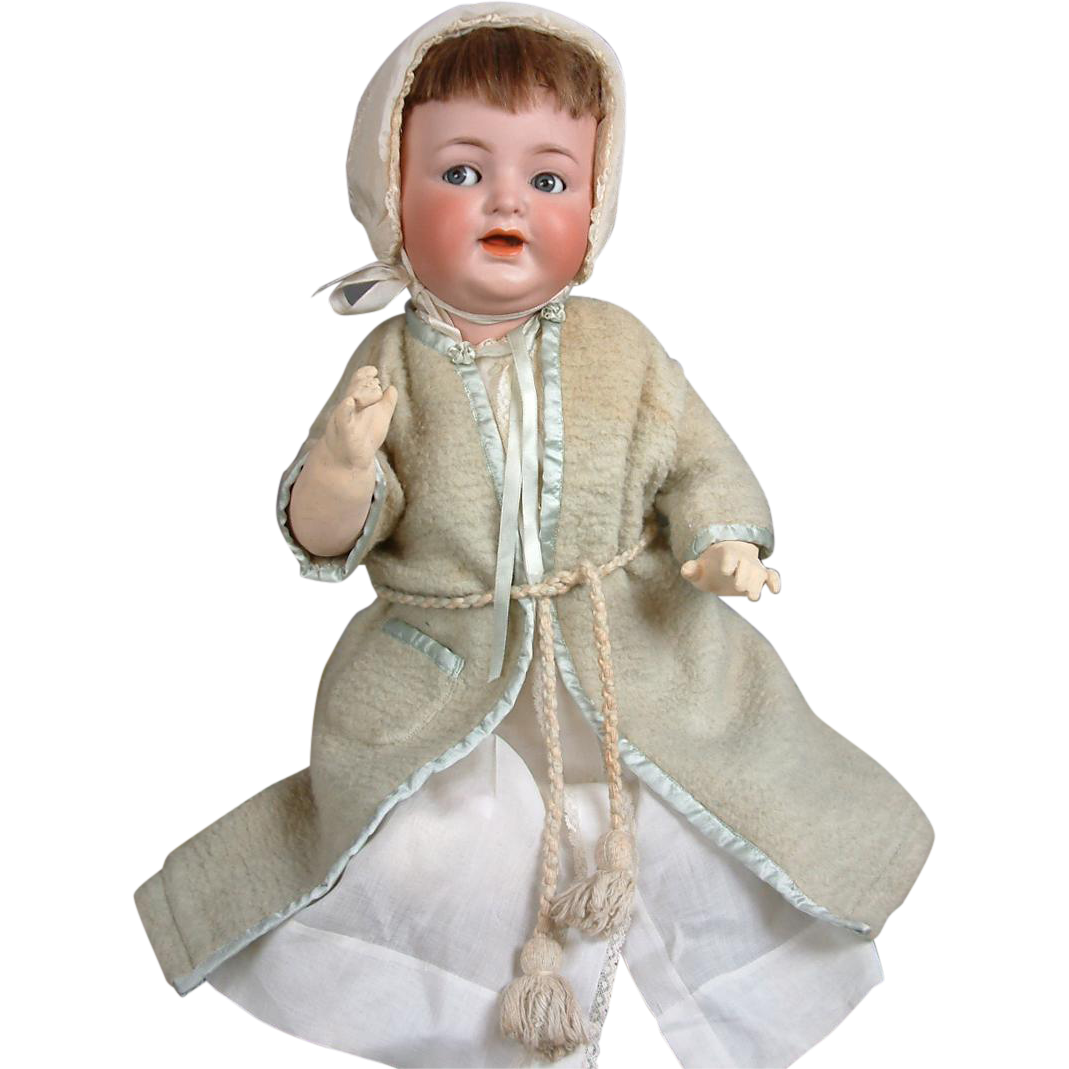 Wonderful Silk Embellished Fleece Baby Jacket with Tassel Closures and Silk Ribbons c. 1910
