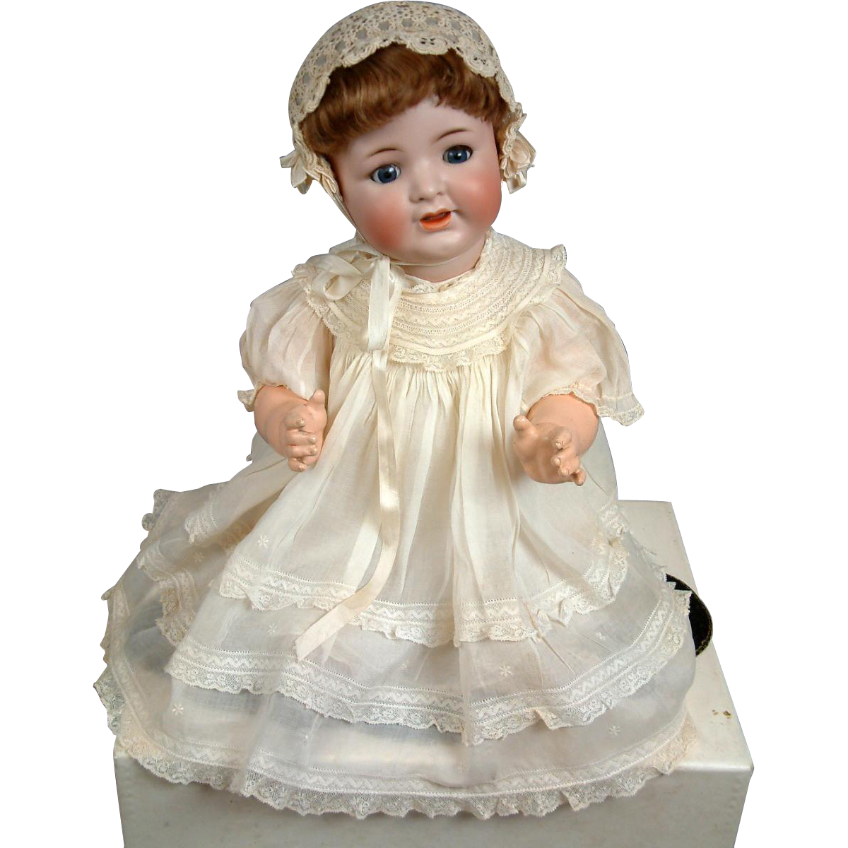 "Rare All Original 21"" Antique Bisque Character Baby Kammer & Reinhardt 126 – Pristine!"
